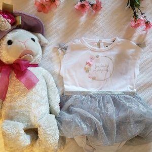 ♦️PL KIDS sparkle Tutu dress/onesie 6mo
